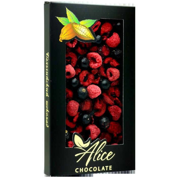 Горький шоколад с вишней, малиной и черной смородиной_правильная