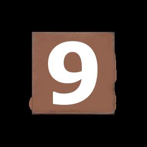 Конфета с цифрой